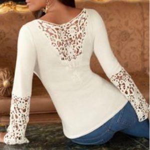 BP Crochet Accent Top